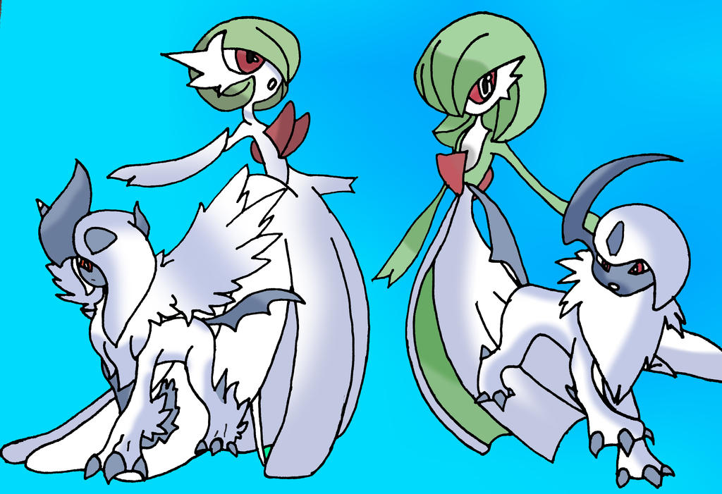 Gardevoir and absol mega evolution by thestealthdrawings - Absol evolution ...