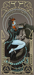 Twilight Nouveau by Jackie-M-Illustrator