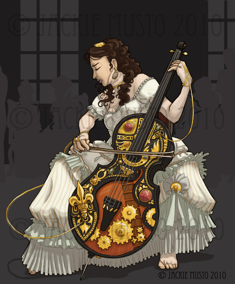 Dread Cello by Jackie-M-Illustrator