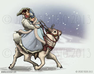 Holiday Ride by Jackie-M-Illustrator