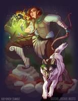 Rana and Varya by Jackie-M-Illustrator