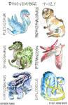 Dinovember Days 7-12 by Jackie-M-Illustrator