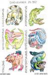 Dinovember Days 25-30! by Jackie-M-Illustrator