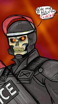 Riot Skull Doodle Face