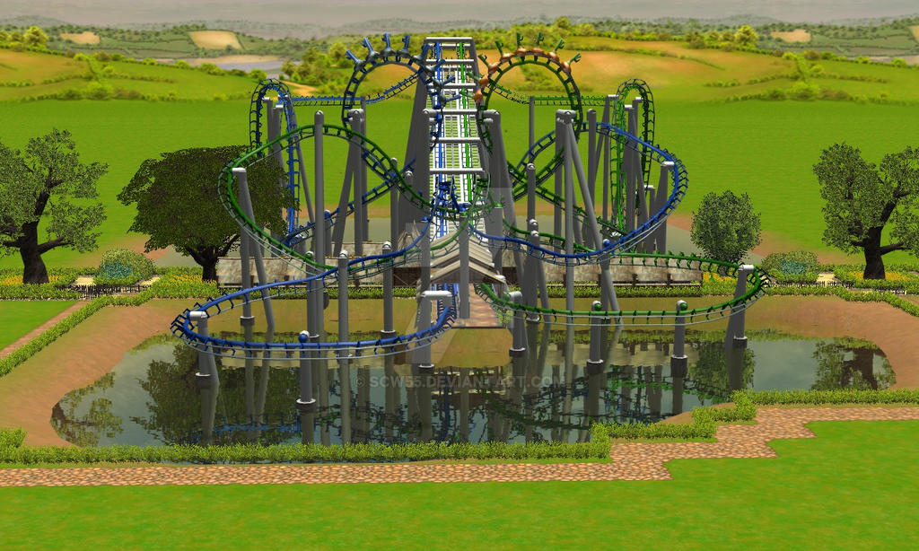 Duelling Inverted Coaster by scw55 on DeviantArt