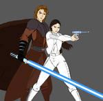 Anakin and Padme - Clone Wars
