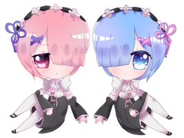Rem and Ram by Trashochist