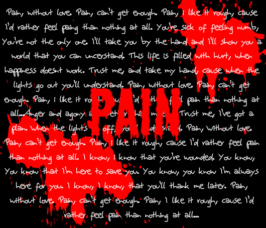 Pain 3 days grace lyrics