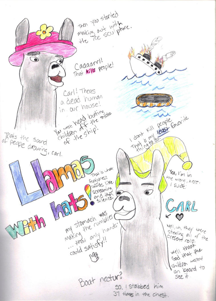 Llamas with hats by thunderstruck190 on deviantart