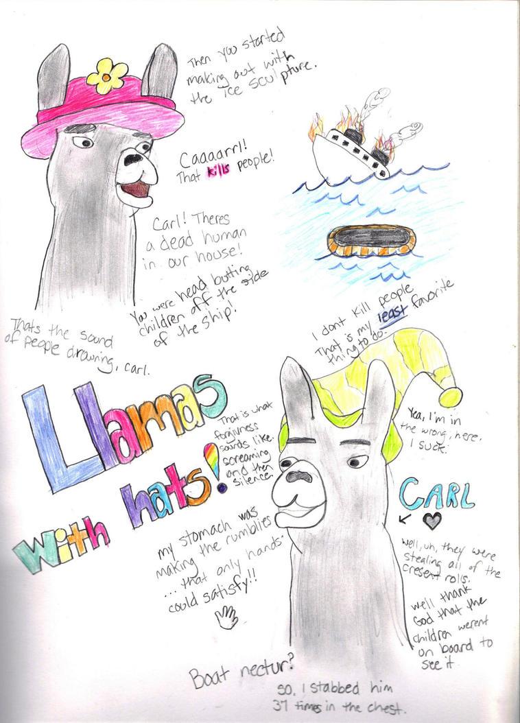 Llamas with hats by thunderstruck190 on deviantart
