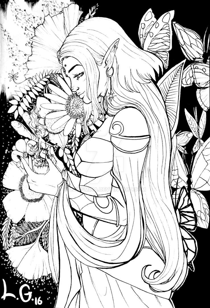 Livia (BW) by Lobismina
