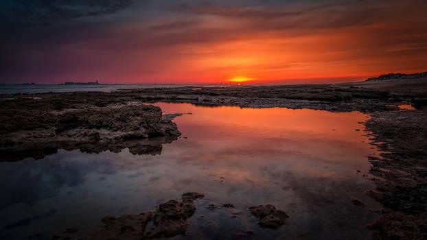 Sundown in Sancti Petri