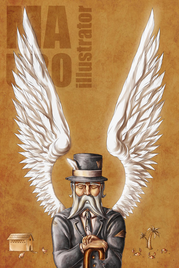 a very old man enormous wings by mauroillustrator on a very old man enormous wings by mauroillustrator