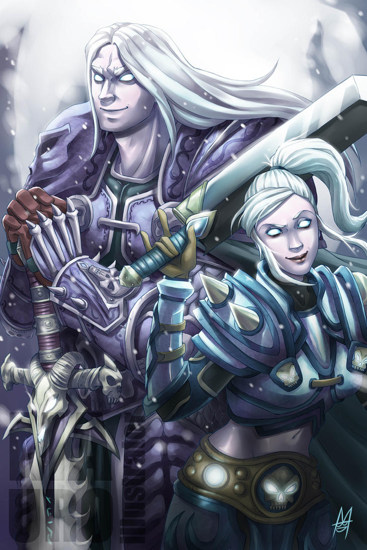 Arthas and Bhaal commission by MauroIllustrator
