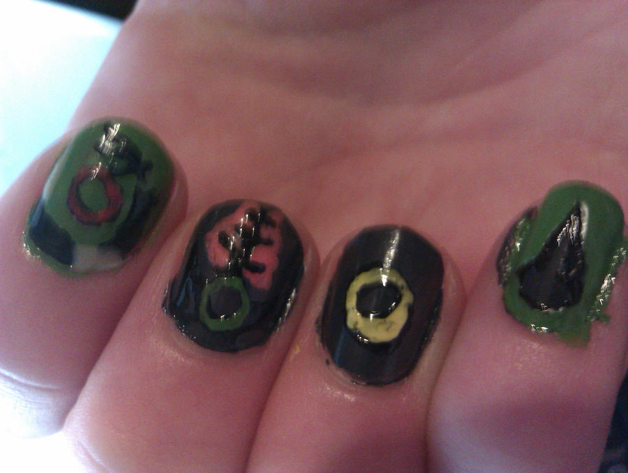 Lord of the Rings Nails 2/3 by greeniepi on DeviantArt