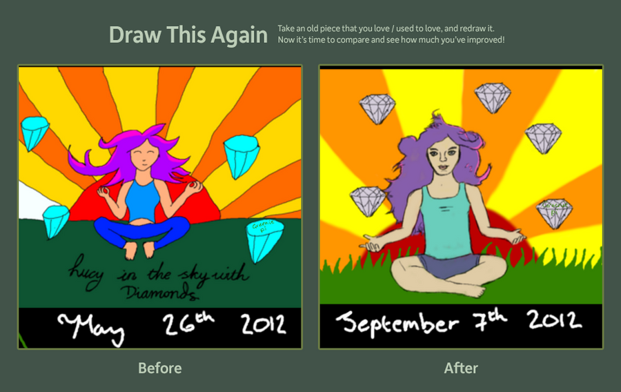 draw this again lucy in the sky with diamonds by
