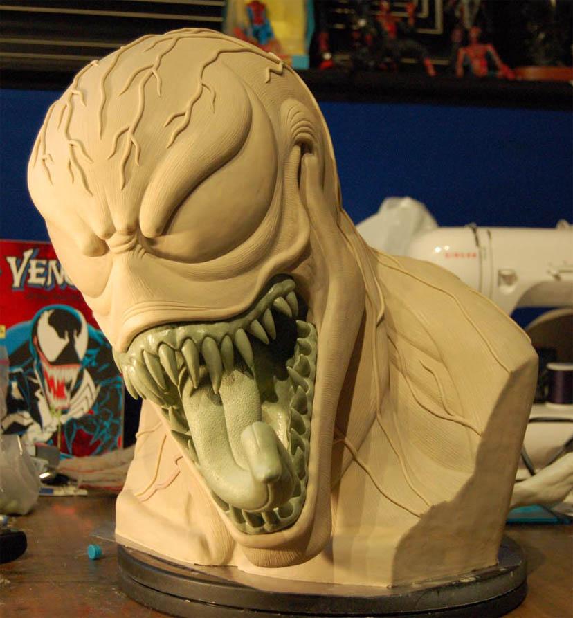 Venom Bust Sculpt 2 by MalottPro