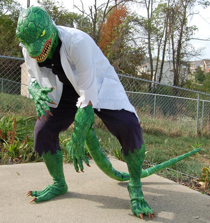 Lizard costume for Halloween (Spider-Man)