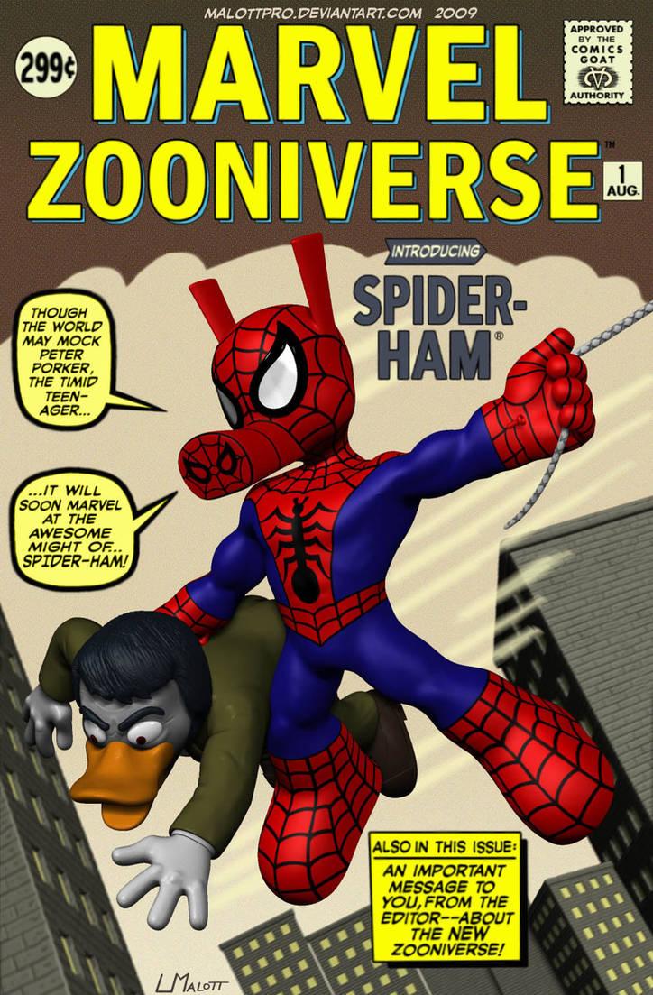 Spider-Ham Cover Marvel Zooniv