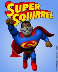 Super Squirrel Flying Up