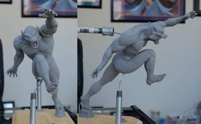 Man-Wolf statue Sculpt