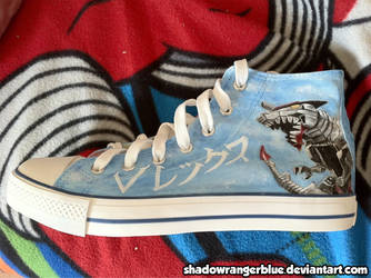 Power Ranger Time Force shoe by ShadowRangerBlue