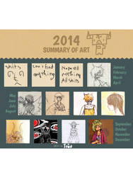 2014 summary of art by Lucifer0305