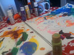 Finger painting is therapy for soul