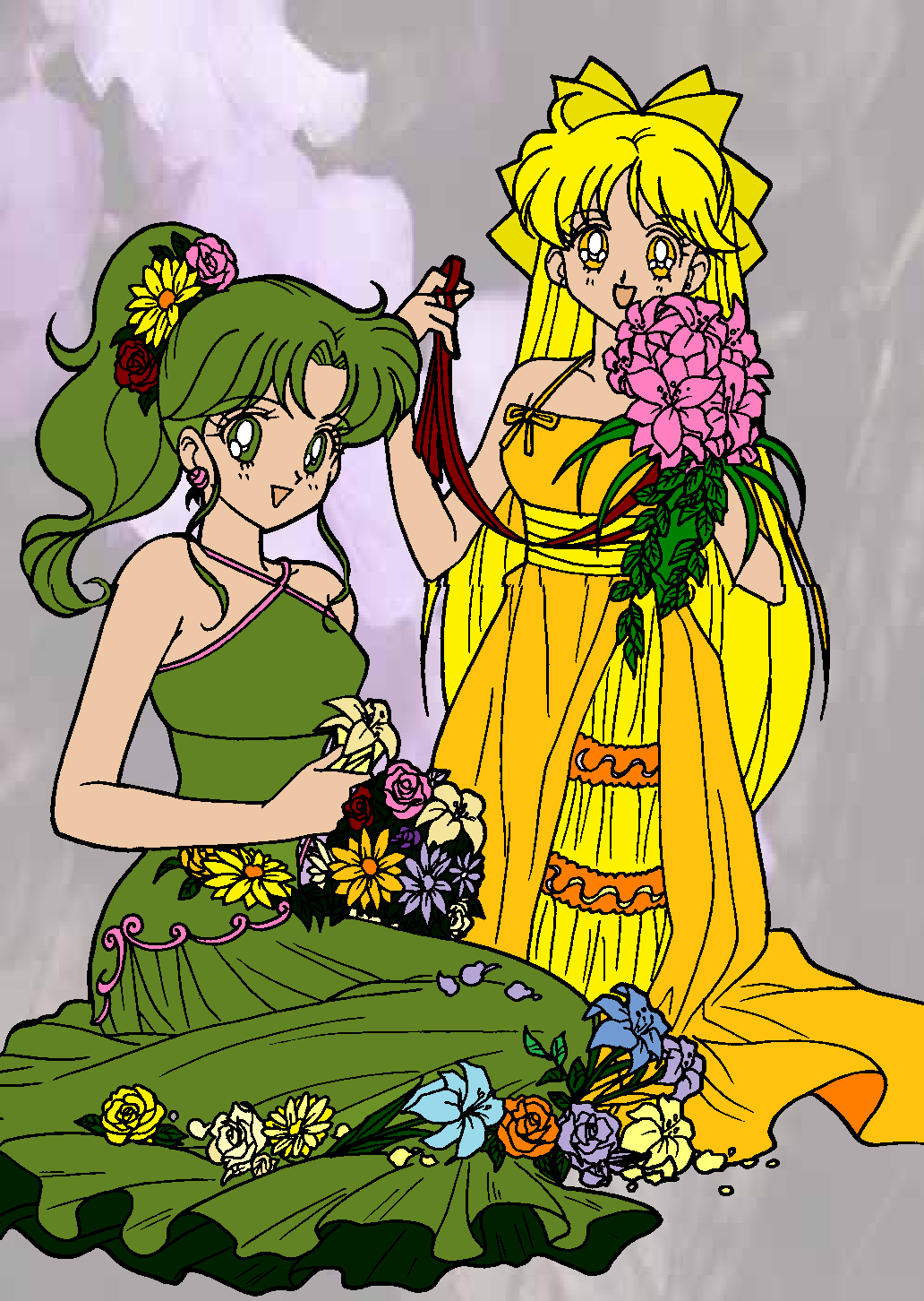Princesses Jupiter and Venus by MaddieHatter3337