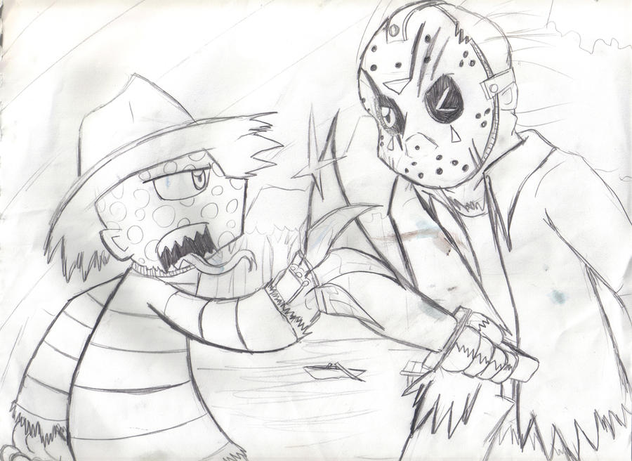 Freddy vs Jason Drawings Freddy vs Jason900 x 656