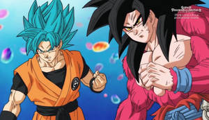 Coolest Pic Goku and Xeno Goku Together