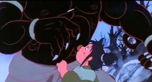 Kid Licking Devil Monster Bellybutton