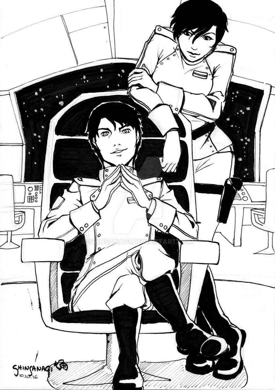 Fanart : Miles and Elli Quinn from Vorkosigan by Shinsanagi