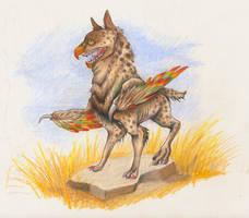 Owl-Hyena by ghostcake