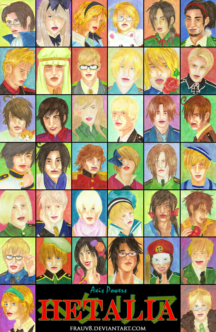 Axis Powers Hetalia Countries by FrauV8