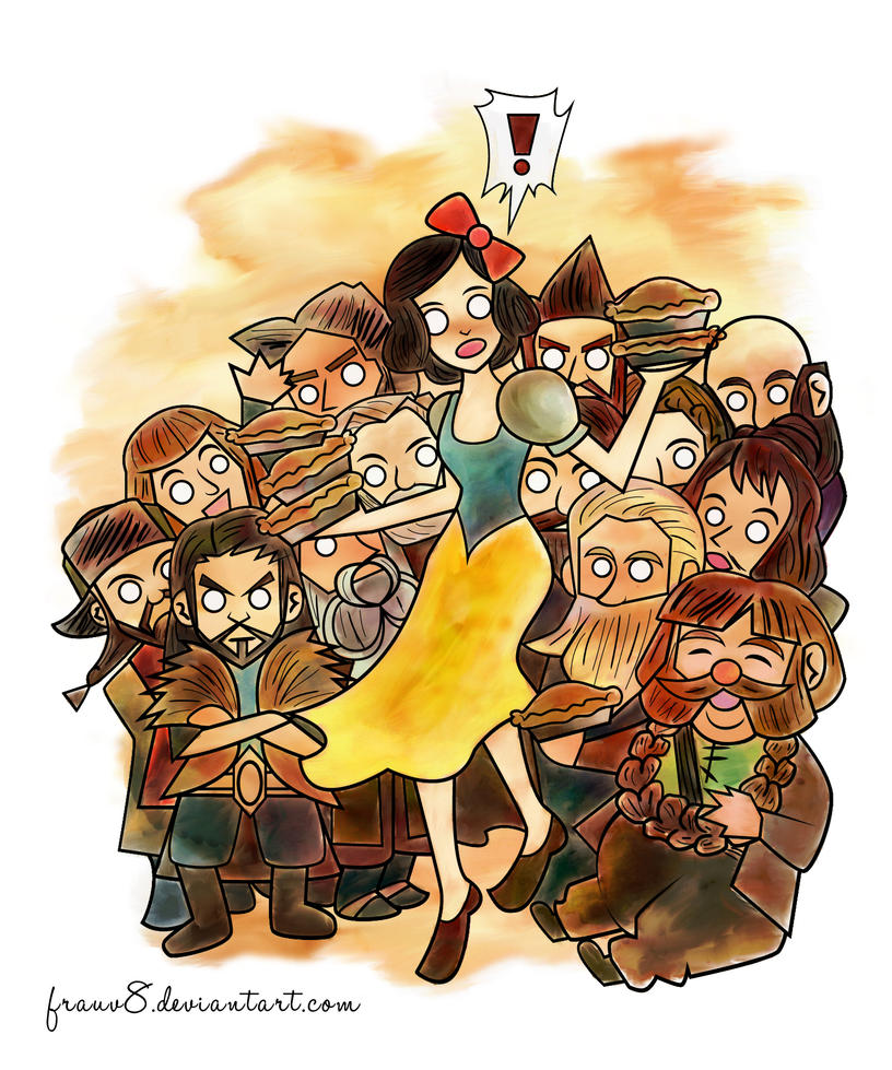 Snow White and Not Her Dwarves by FrauV8