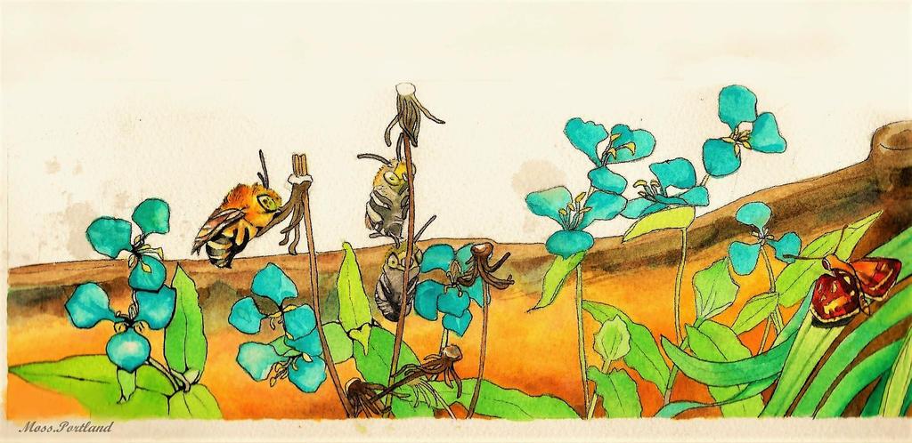 003 watercolour by Moss-Portland