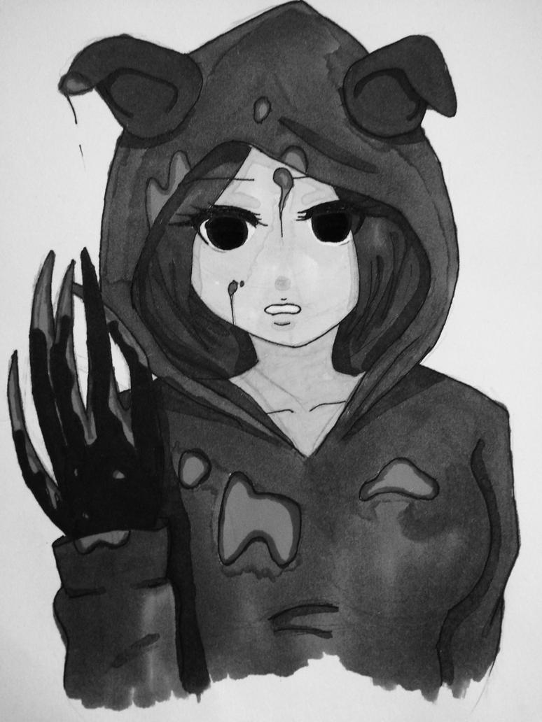 Wolf girl by gryggm