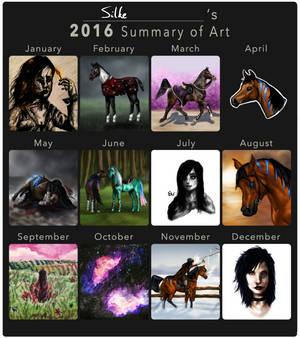 2016 Art Summary - Happy New Year!