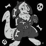 Strudel Inktober Day 2 - Spooky Scary Skeletons