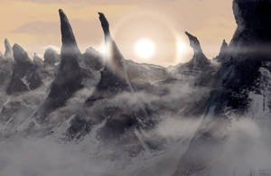 Parhelion over the mountains of madness by Samize