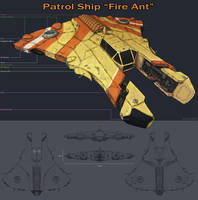 Fire Ant Patrol Ship by Samize