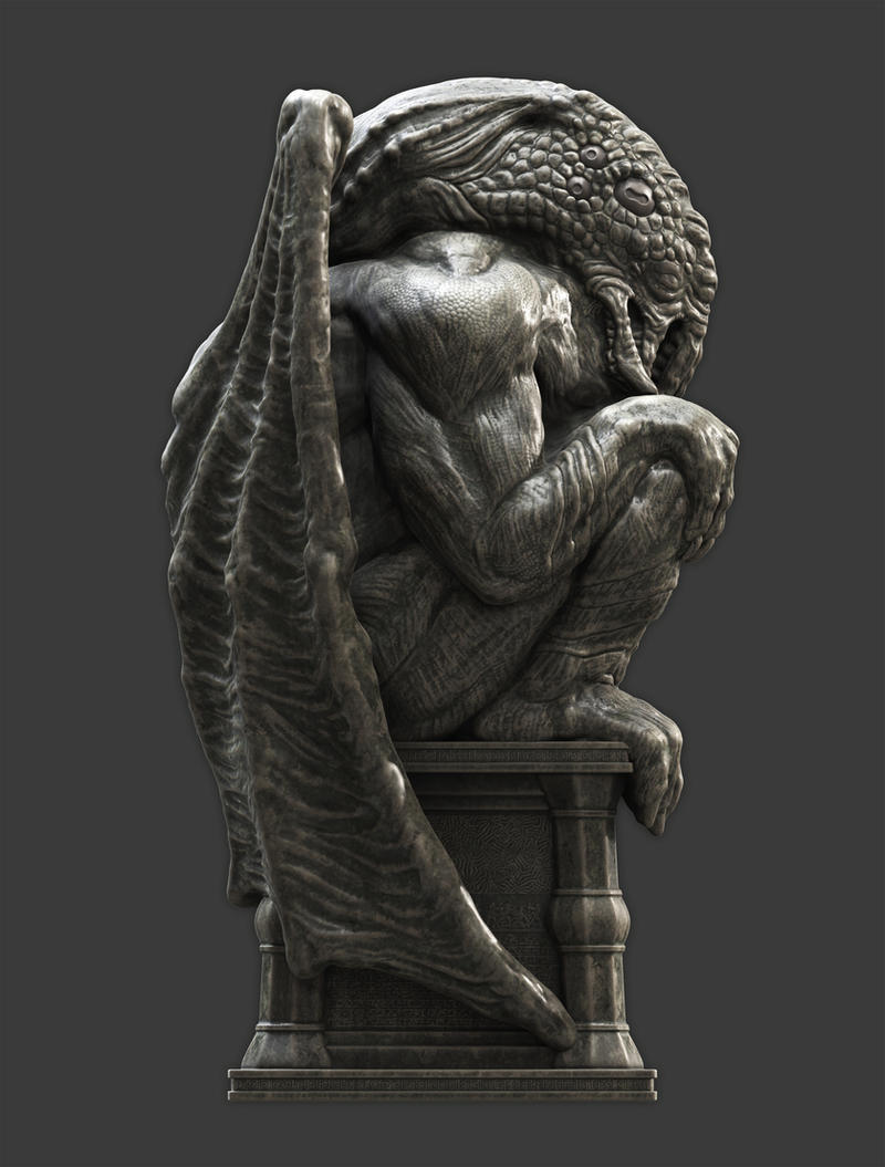 Cthulhu Statuette I by Samize