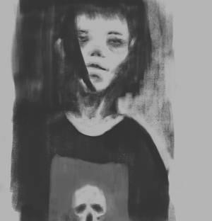 Speedpaint skull girl