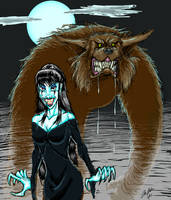 Wulf and Batsy by InfraMan63