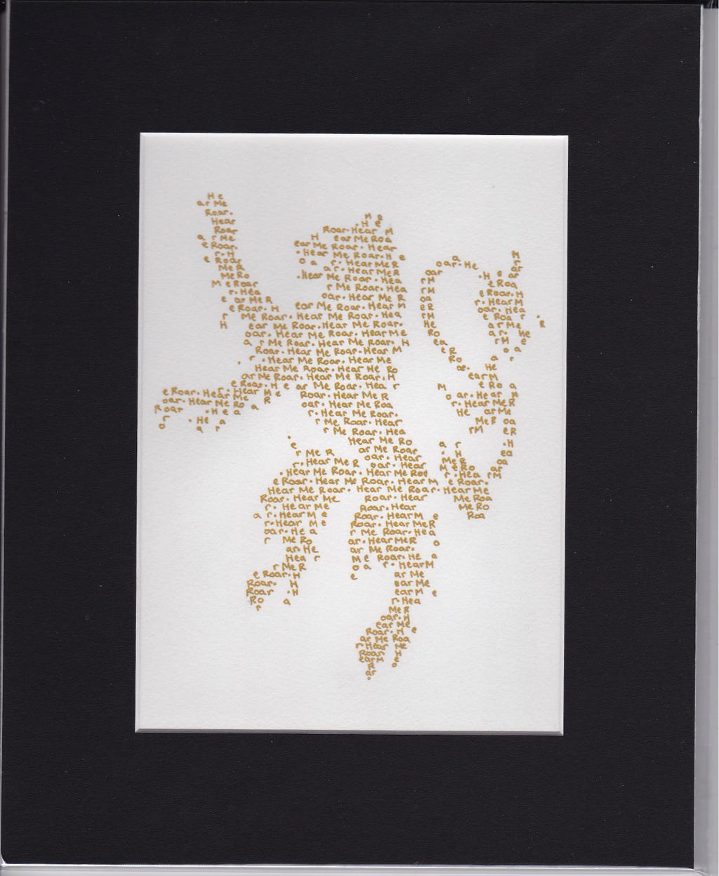 Lannister Typographical House Sigil by FootballHockeyPilot