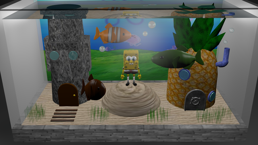 Spongebob fish tank by patdcake on deviantart for Spongebob fish tank