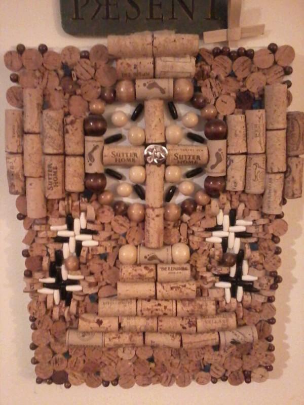 Wine Cork Mosaic by KDlala