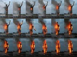 Wasteman Burning sequence