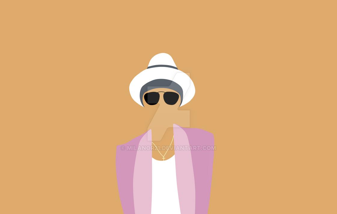 Minamilist Bruno Mars By Milanor21 On DeviantArt